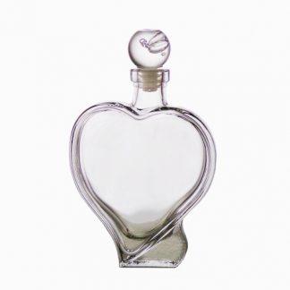 bottiglia a forma di cuore