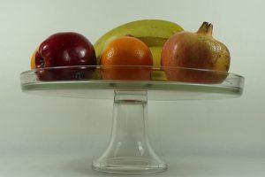 alzata piatto in vetro
