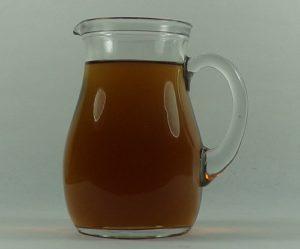 brocca in vetro mezzo litro