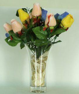 vaso fiori in vetro