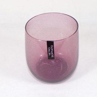 bicchiere rosa antico