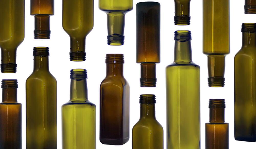 tipi di bottiglie di olio